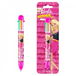Stylo multi-couleurs Barbie