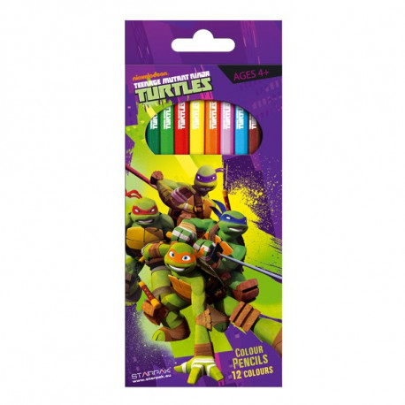 12 Bleistifte Farben Schildkröte Ninja