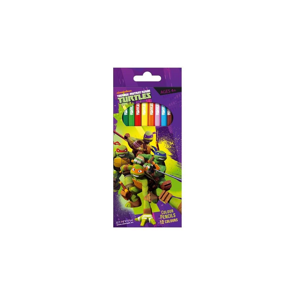12 crayons de couleurs tortue ninja - Tortue ninja couleur ...
