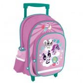 Sac à roulettes Littlest Pet Shop Violet 38 CM