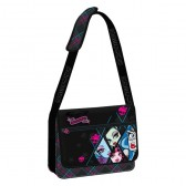 Sac bandoulière Monster High losanges 38 cm