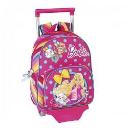 Sac à roulettes Barbie 34 CM maternelle Haut de Gamme - Cartable