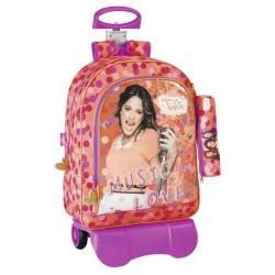 Bookbag skateboard Violetta Love 43 CM high quality Trolley + Kit