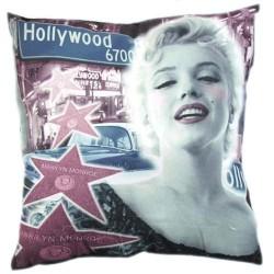 Cojín cuadrado de Marilyn Monroe Hollywood