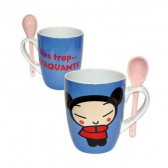 "Mug conical Pucca ""you too crunchy"""