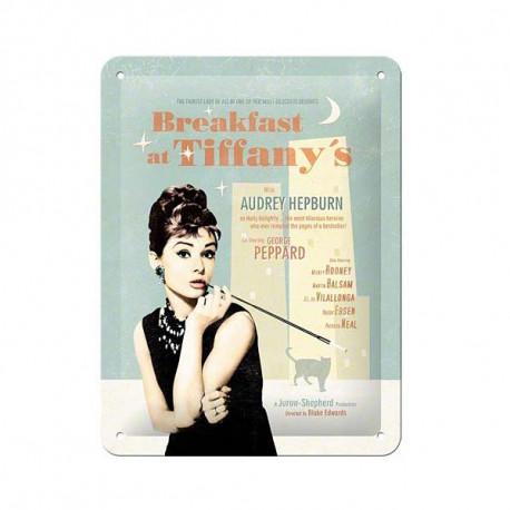 Metal de la placa Audrey Hepburn Tiffany 20 CM