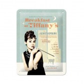Plate metal Audrey Hepburn Tiffany 20 CM