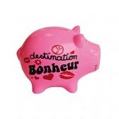 Piggy bank pig Destination happiness