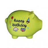 Aniversario gigante de cerdo de alcancía