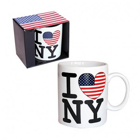 """Taza mini USA """"I love New York"""""""