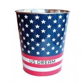 Cestino in metallo bandiera Stati Uniti d'America