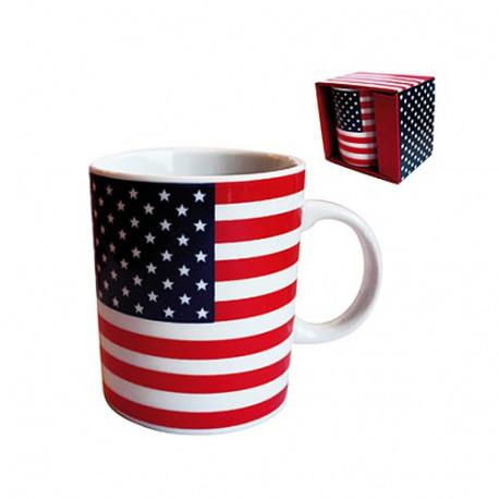 Taza clásica bandera de Estados Unidos