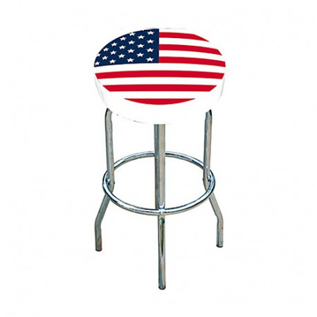Tabouret Bar blanc Drapeau USA