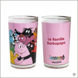 Glass juice Barbapapa family