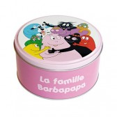 Barbapapa family round tin box