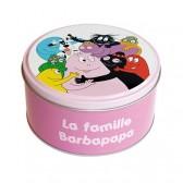 Caja de lata redonda familia Barbapapa