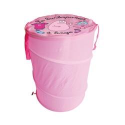 Cestino di lavanderia zucchero filato rosa