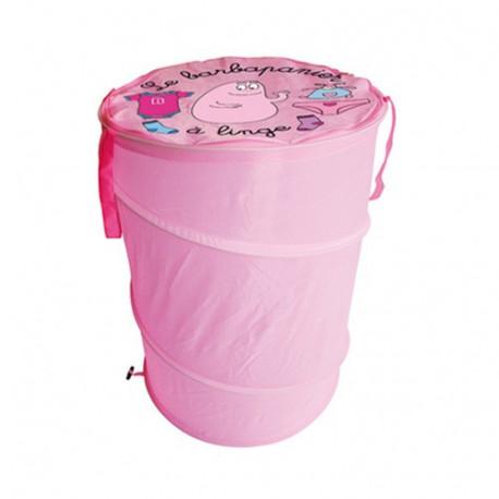 Cesto de la ropa de algodón de azúcar rosa