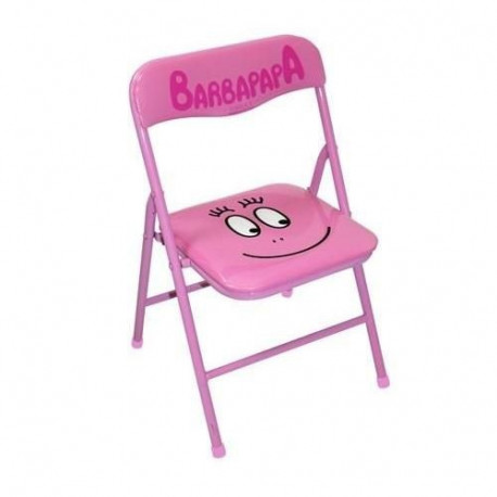 Chaise pliante enfant barbapapa rose - Chaise enfant pliante ...