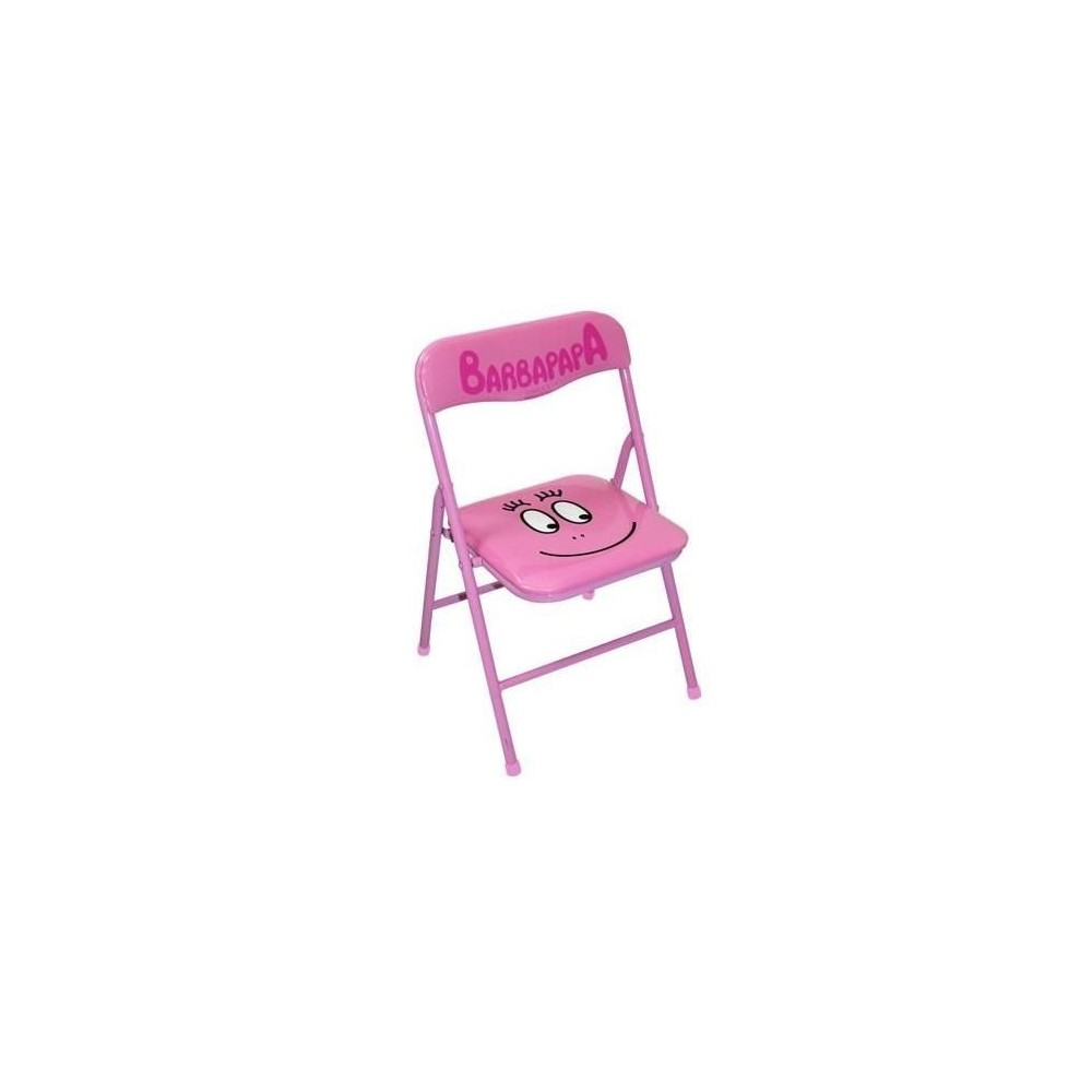chaise pliante enfant barbapapa rose. Black Bedroom Furniture Sets. Home Design Ideas