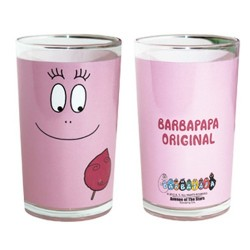 Fruit juice glass Barbapapa Original pink