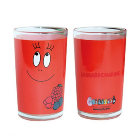 Red fruit healthfully juice glass