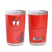 Rosso di frutta sano bicchiere di succo