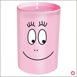 Piggy bank metal Barbapapa cylindrical
