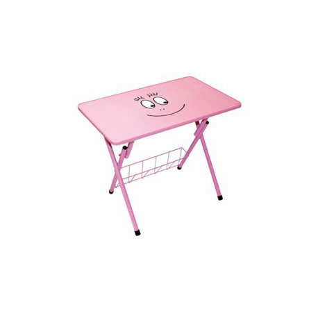 Table of child activities Candyfloss pink