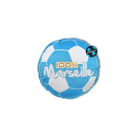 Round cushion 100% Marseille blue