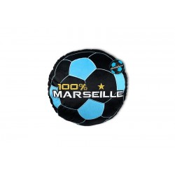 Cojín redondo 100% Marsella negro