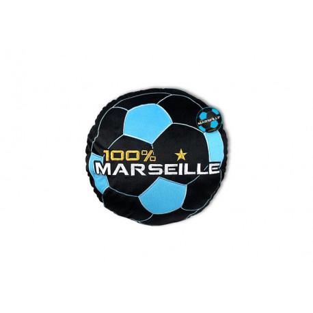 Round cushion 100% Marseille black