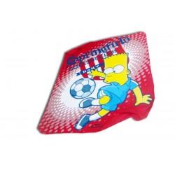 Plaid Bart Simpson football