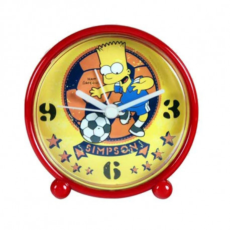 Alarm clock pvc Bart Simpson football yellow background