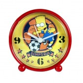 Reloj despertador pvc fondo de Bart Simpson fútbol amarillo