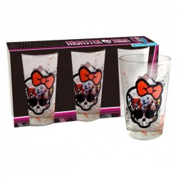 Kast 3 glazen Monster High Logo