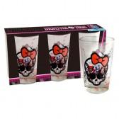 Coffret 3 verres Monster High Logo