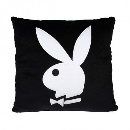 Coussin Playboy carré noir