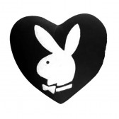 Coussin Playboy Coeur Lapin Blanc