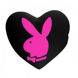 Cojín de corazón de color rosa de conejito Playboy