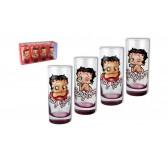 Coffret 4 verres Betty Boop paillettes