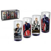Coffret 4 shooters paillettes Johnny Hallyday