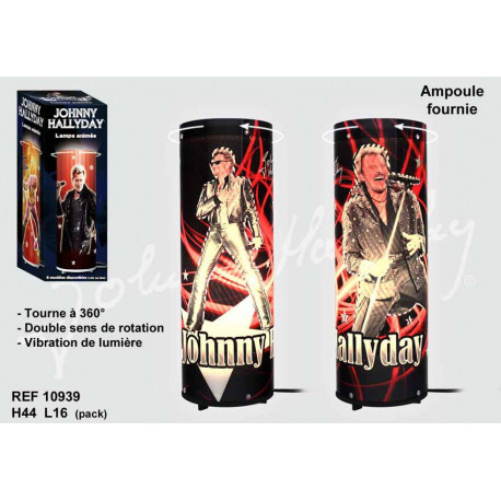 Lamp rotating Johnny Hallyday Rock Star