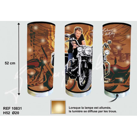 Lamp giant Johnny Hallyday motorcycle