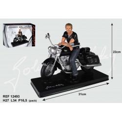 Estatuilla de la moto de Johnny Hallyday