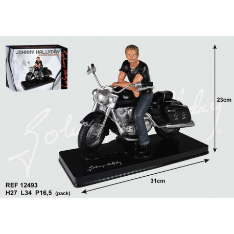 Johnny Hallyday motorcycle figurine