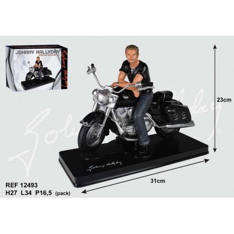 Johnny Hallyday motorfiets beeldje