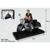 Johnny Hallyday motorcycle figurine