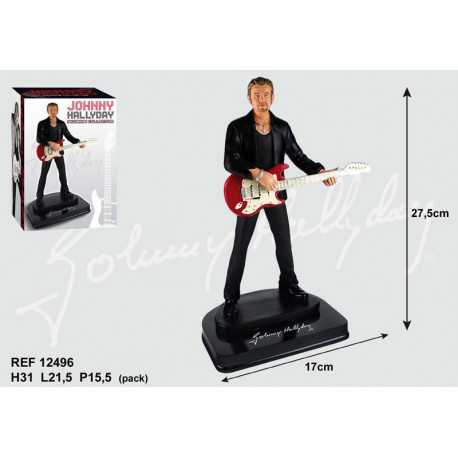 Figurine Johnny Hallyday Guitare rouge 27 CM