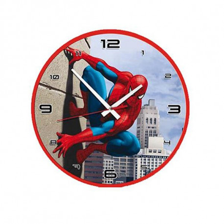 Reloj de pared de Spiderman lucha 32 CM.